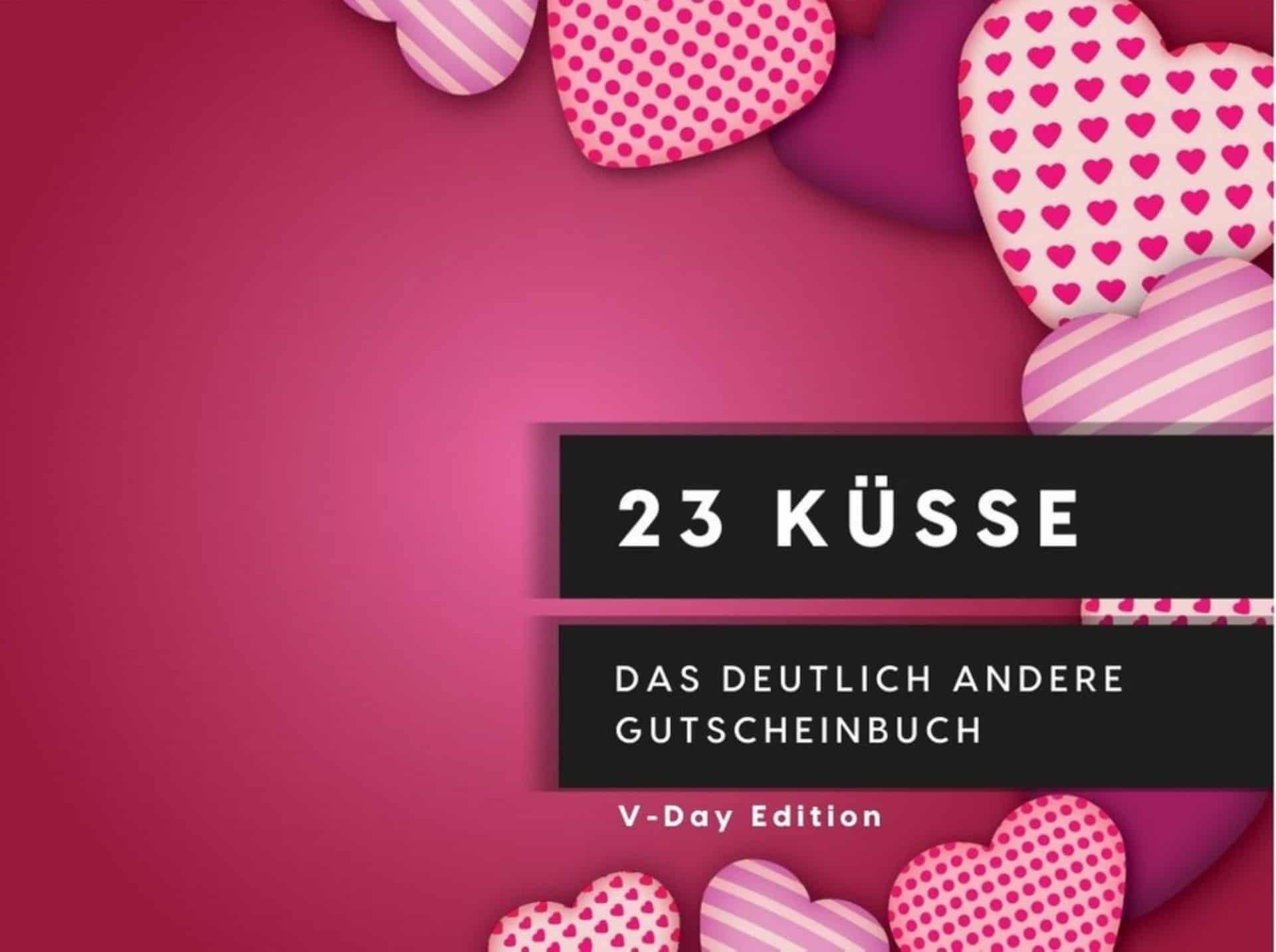 23 Küsse Gutscheinbuch zum Valentinstag